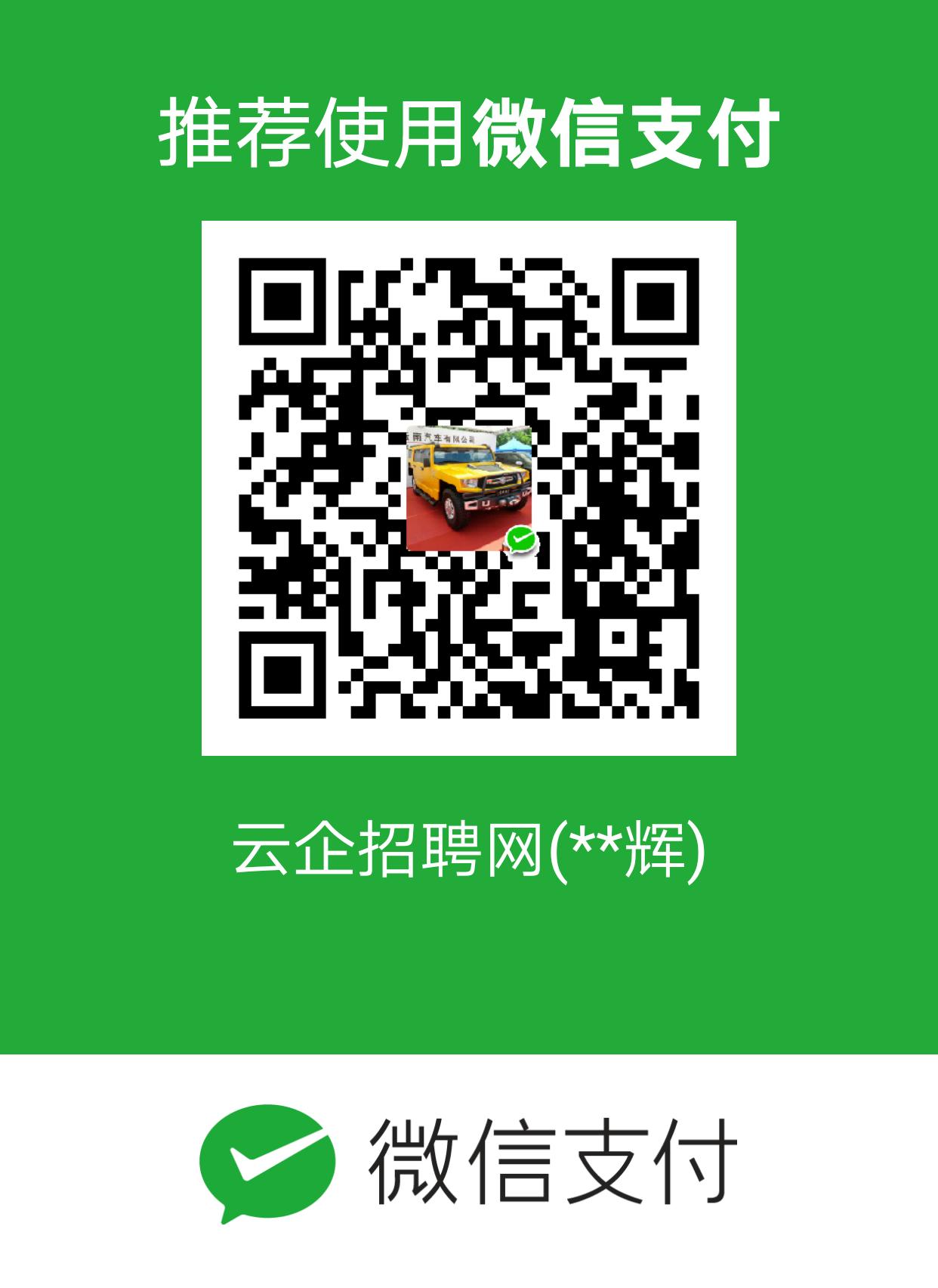 云企招聘网微信支付